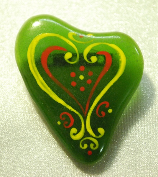 recycled glass brooch