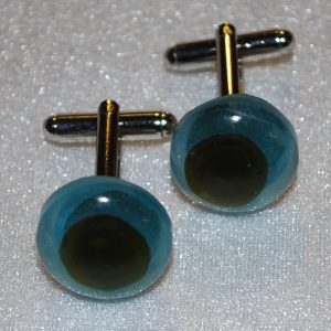recycled glass cufflinks