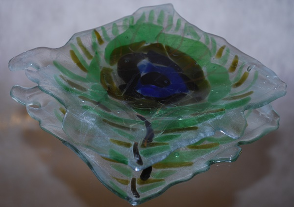 Recycled glass platter